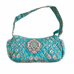 Vera Bradley Teal Paisley Cotton 4-Pocket Handbag